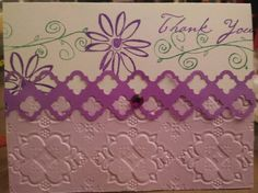 3D embossing Thank you card