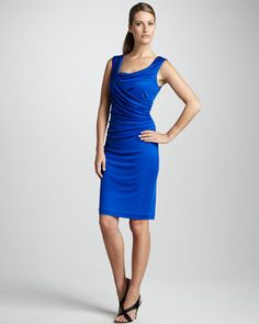 Ruched Rayon Cocktail Dress by Kay Unger New York at Neiman Marcus.