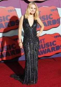 Kristen Bell attends the 2014 CMT Music Awards at the Bridgestone Arena in Nashville, Tenn., on June 4, 2014.