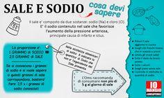 ➡ Obiettivo 5 grammi al giorno per persona.  ⚠ In Italia se ne assume il doppio.  #sale #sodio