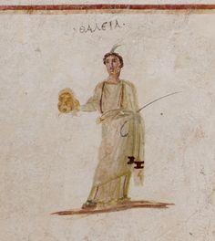 ArchaeologyBLOGOPSIS | Ephesus terrace houses - frescoes of the muses. Thalia.