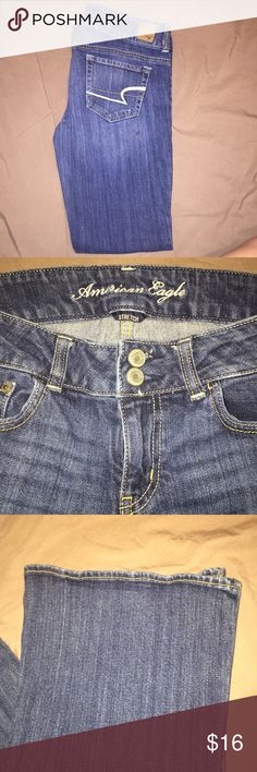 ⭐️American Eagle jeans⭐️ Excellent condition denim jeans. They stretch and artist style. American Eagle Outfitters Jeans