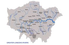 The remaining rivers in London.   The other small rivers like the fleet were covered over as many had become little better than open sewers and flow under the city .