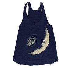 Im dying....Moon Cats Tank  Medium by burgerandfriends on Etsy, $24.00