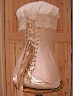 For later corset making secrets Edwardian bridal corset by Harman Hay