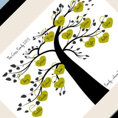 Family Tree Wall Art Personalised family by TrulyYoursPersonally