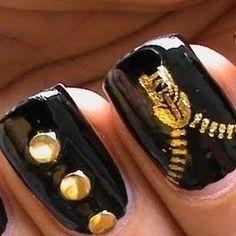 Nail Art Cremalleras y botones Videotutorial