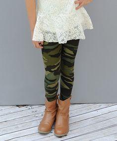 Look what I found on #zulily! Camo Leggings - Girls #zulilyfinds