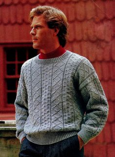 Men's Guernsey Pullover Sweater PDF Knitting by MomentsInTwine
