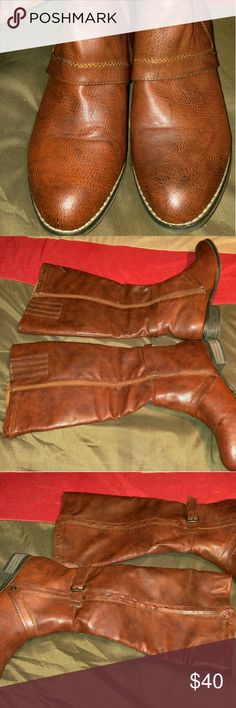 ⬇️REDUCED⬇️ Tall Brown Boots On Sale Now. Was reduced to $37.  EUC Tall Brown Boots. Only wore a couple of times. Great condition. Shoes Combat & Moto Boots