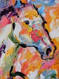 palette knife horse - Google Search