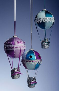 Hot Air Balloon Ornaments for the Christmas tree competition...