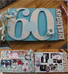 60th Birthday Guest Book for Maureen handcrafted by Incy Wincy Designs
