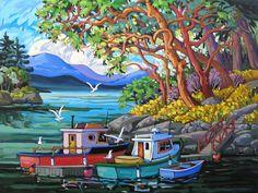 Past Work — Greta Grunow Guzek Boat Art, Boat Painting, Canadian Artists, Learn To Paint, Landscape Art, Unique Art, Canvas Art, Art Gallery, Illustration Art