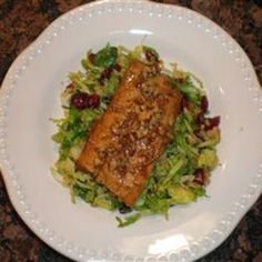#recipe #food #cooking Salmon with Brown Sugar and Bourbon Glaze