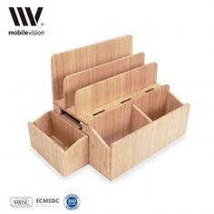 Bamboo Stand and Charging Organizer with Extension plus Extra Caddy Combo