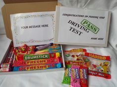 Retro Sweets Gift Box Passing Driving Test FREE personalised message(45 sweets)  | eBay