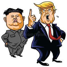 Illustration about Donald Trump with Kim Jong-un Editorial Cartoon Vector Drawing Portrait. Illustration of donald, jong, drawing - 91322828 Kim Jong Un Cartoon, Anti Trump Cartoons, Caricature, Funny Cartoon Characters, Fictional Characters, Photo Illustration, Graphic Design Art, Donald Trump, Stock Photos