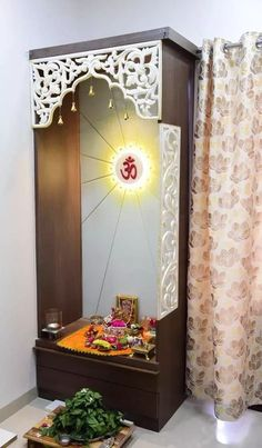 Beautiful Living room design traditional on a budget trendy living room contemporary indian Temple Room, Temple Design For Home, Pooja Room Door Design, Plafond Design, Room Partition Designs, Indian Living Rooms, Pooja Rooms, Indian Home Decor, Room Doors