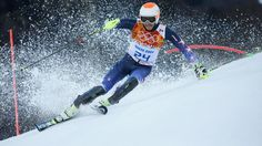 Bode Miller of the U.S. competes in the slalom run of the men's super-combined at the Sochi Winter Olympics.