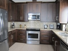 Best Fiddlehead Design Group Kitchens Dark Stained Cabinets 640 x 480