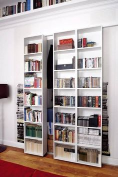 50 examples of bookshelfs