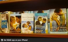 Nicholas Sparks = white people almost kissing