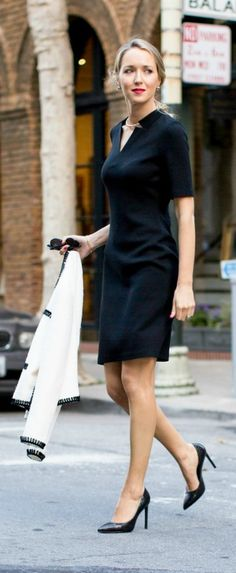 Easily the most flattering (and most comfortable!) black sheath dress I've ever owned.  #stjohnknits #spring2015
