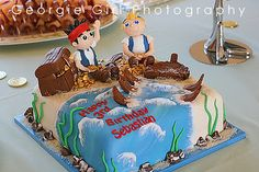 Jake and the Neverland Pirates cake. Would be so fun to make!!!!