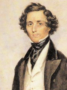 Jakob Ludwig Felix Mendelssohn Bartholdy - Born: 3 February 1809 was a German composer, pianist, organist and conductor of the early Romantic period. Romantic Composers, Classical Music Composers, Classical Period, Romantic Period, Piano Songs, Piano Music, E Book, Piece Of Music, Midsummer Nights Dream