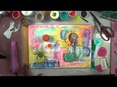 how to art journal, nov 26, 2014, mixed media art - YouTube
