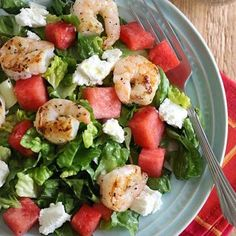 grilled shrimp and watermelon chopped salad more watermelon chopped ...
