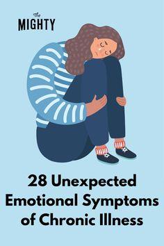 28 Unexpected Emotional Symptoms of Chronic Illness #chronicillness Chronic Fatigue Syndrome, Chronic Illness, Chronic Pain, Fibromyalgia, Avascular Necrosis, Mental Health Articles, Spiritual Wellness, Invisible Illness, Pain Management