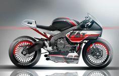 Honda Cafe Racer Sport - Hugo Martins design #motorcycles #caferacer #motos | caferacerpasion.com
