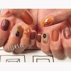 ◽️◾️◻️▪️◽️▫️ #nail#art#nailart#ネイル#ネイルアート #brown#bitter#bijou#cool#shell#マットネイル#ショートネイル#nailsalon#ネイルサロン#表参道