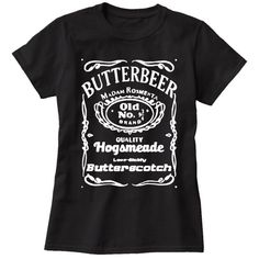 Delicious butterbeer! A favorite beverage of the Harry Potter series, it brings joy to just about everyone that tries it! Get this awesome Butterbeer T-Shirt to flaunt your Hogsmeade expertise! Clothi