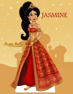 This is for all the Disney doll collectors who love the new LE red Jasmine doll but can't pay the high eBay prices! I hope you will enjoy this doll! Please Print and cut her out. Download the high res version at Paper Dolls by Cory on Facebook! :)