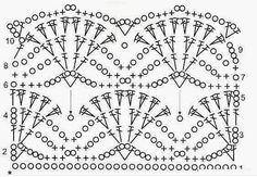 Fan crochet pattern