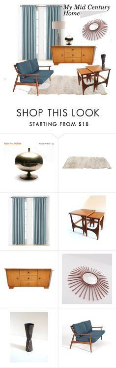 """""""My Mid Century Home"""" by brocandpop ❤ liked on Polyvore featuring interior, interiors, interior design, home, home decor, interior decorating, Miller Curtains and ADAM"""