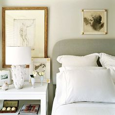 Montage: 20 White Bedrooms With French Flavor