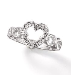 AVON - Product - Just $5.99 for the Embellished heart band ring   I just ordered this today! It's adorable!