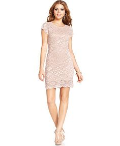 Jump Juniors' Sequined Lace Dress