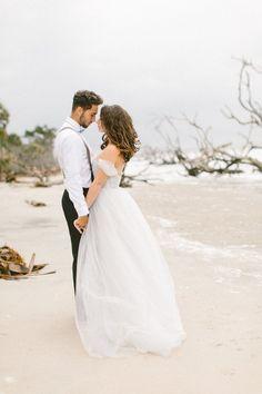 Romantic beach wedding inspiration   Brianna Wilbur Photography