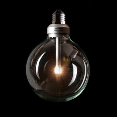 Industrial Vintage Style ECO LED 125mm Clear Globe LampLightBulb 3000K WarmWhite