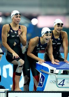 Caroline Burckle Kim Vandenberg and Christine Marshall of the United States Swim Team. I Love Swimming, Swimming Diving, Sport Gymnastics, Olympic Gymnastics, Swimmer Problems, Girl Problems, Swimming Pictures, Swimming Motivation, Women Volleyball