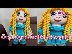 Örgü oyuncak bebeklerde kıvırcık saç yapımı , Canım Anne - YouTube