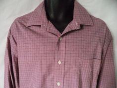 Mens Lauren Ralph Lauren non iron dress shirt 17 1/2  32/33 Plaid long sleeve #RalphLauren