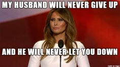 July 18, 2016 - Melania Trump not only stole from Michelle Obama, but Rick Astley as well...LMAO!