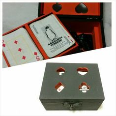Porta cartas e dominó