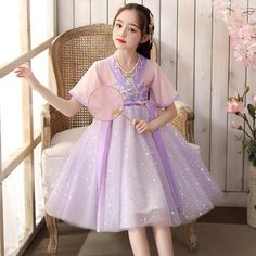 Chinese Clothing Traditional, Traditional Outfits, Princess Costumes, Girl Costumes, Modern Princess, Oriental Fashion, Japanese Outfits, Neck Pattern, Kids Outfits